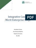 Integrative Case 1 - Merit Enterprise Corp