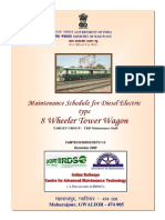 Maintenance Schedule for Diesel Electric Type 8 Wheeler Tower Wagon(2)