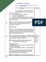 Script for Computer Basics