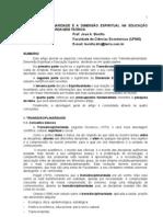Transdisciplinaridade - A Dimensao Espiritual Na Educacao Superior - Texto 1 - Jose a. Bonilla CA