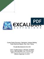 Custom Plastic Pipe Extrusions- Product Catalog
