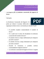 I Presupposti Per La Risoluzione Consensuale Del Rapporto Di Lavoro