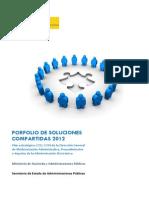 Portfolio de soluciones compartidas 2012