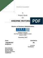 Management Report Hinopak
