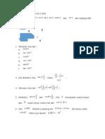 Soal Trigonometri Kelas x Sma