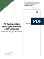 Helium Mass Spectrometer Leak Detector