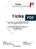 Mathematics Formula Sheet JRF NET