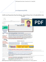 GATE 2015 Preparation Tips From Expert - Sumeet Kumar Sar, Sr