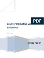 Karin Instone - Counterproductive Work Behaviour - White Paper
