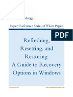 Recovery Options for Windows