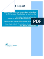 Final Report Review for Private Sector Participation in Water and Sanitation in Indonesia