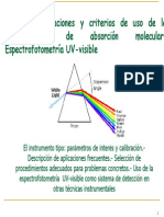 Espectroscopía UV- Visible