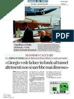 """""""Giorgio vede l'Italia in fondo al tunnel"""" Intervista a Massimo Cacciari"""
