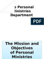 The Mission and Objectives of PM