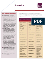 16PF Questionnaire Datasheet