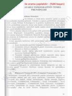 Biyomedikal Sistemler - Sakarya Üniversitesi - Bilgisayarlı Tomografi