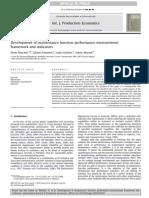 Development of Maintenance Function Performance Measurement