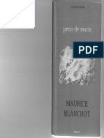BLANCHOT, Maurice. Pena de Morte