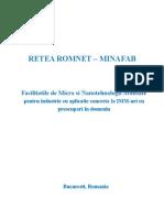 Retea ROMNET MINAFAB Oferta Facilitati Micro Nano