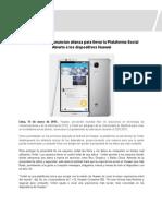 Huawei Omlet se unen para lanzar la Plataforma Social Abierta
