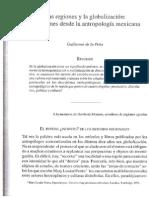 De LA PEÑA Guillermo- Las Regiones y La Globalización-reflexiones Desde La Antropología Mexicana (a)