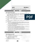 Grammar Answer Key Book - 6