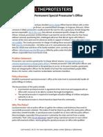 Policy Brief #1 -- Special Prosecutor