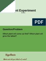 plant experiment misko