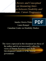 Job Retention and Career Progression Among People With Disabilities FINAL VERSION AUG 2009