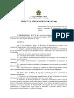 Decreto 3505 13 Junho 2000 368759 Segurança da Informação