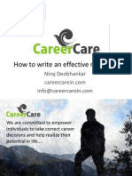 Career Care_How to Make an Effective Resume