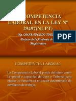 Competencia y Comparecencia