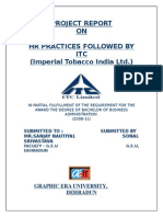 A Study of HR Practices in ITC