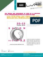 Les Grands Axes Du Salon Du Livre de Paris 2015