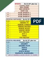 Crystal Sports, Malabar & Saptagiri