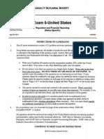 14-6u Casualty Actuarial Society Exam 6