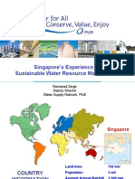 Sustainable Water Resource Management - The Singapore Experience
