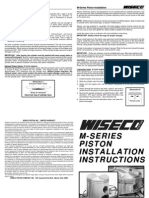 Wiseco Piston LT250r Instruction Sheet