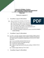 Homework 1 W15 Revised