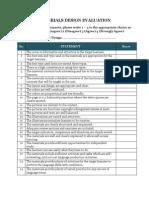 Materials Design Evaluation