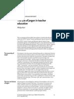 The Use of Jargon in Teacher Education, Philip Kerr
