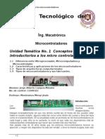 UNIDAD 1 Conceptos Introductorios a Los Microcontroladores