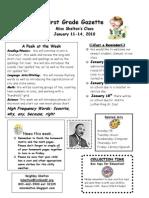 Newsletter Week 20