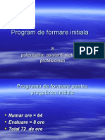 Program de Formare A