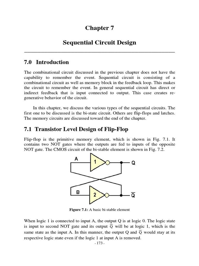 Chapter 7 Sequential Circuit Design Flash Memory Dynamic Random First Transistor In The Is Working Not Sure About Second Access
