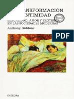 giddens - la transformación de la intimidad