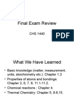 Chem for Engineers Final Exam Review