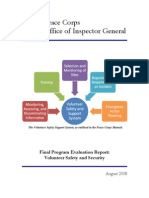 Peace Corps IG Safety and Security Final Evaluation Report 2008