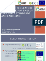 Policy and Regulatory Framework for Energy Efficiency Standards and Labelling