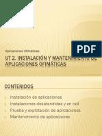Inatalación y mantenimiento de  aplicaciones ofimaticas